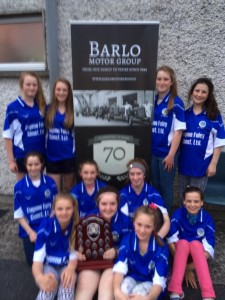 Some of the U14 panel: Claire Quigley, Leah Lanigan, Maeve Ging, Katie Brennan, Shona O'Brien, Tara Walsh, Laoise Prendiville, Helen Roberts, Ciara Wall, Molly Butler & Kate Everard